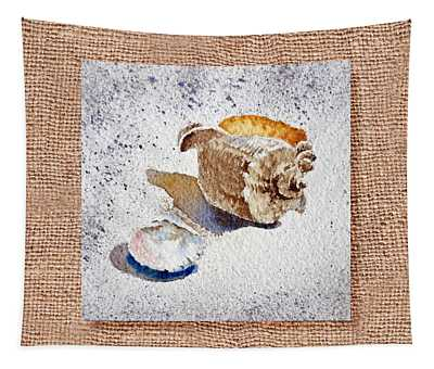 She Sells Sea Shells Decorative Collage Tapestry