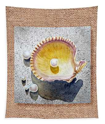She Sells Seashells Decorative Collage Tapestry