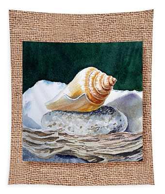 She Sells Seashells Decorative Design Tapestry