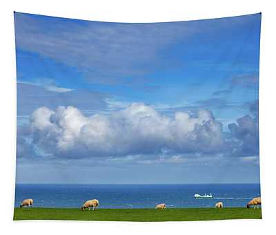 Sheep Grazing On The North Yorkshire Tapestry