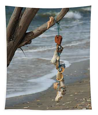 Shells On A String Tapestry