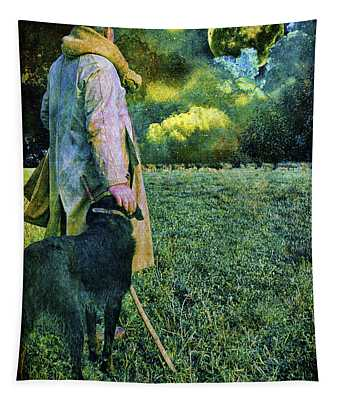 Shepherd And Moon Tapestry