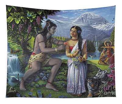 Shiva And Parvati Tapestry