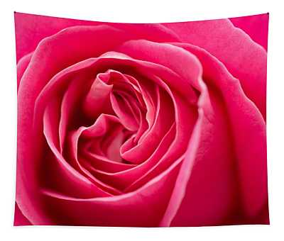 Shocking Pink Rose Tapestry