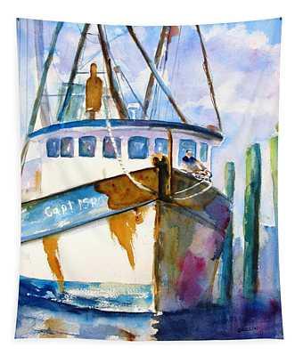 Shrimp Boat Isra Tapestry