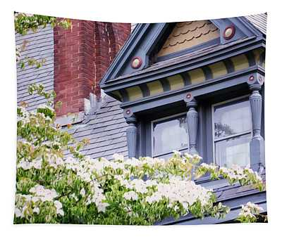 Side Window And Dogwoods Tapestry