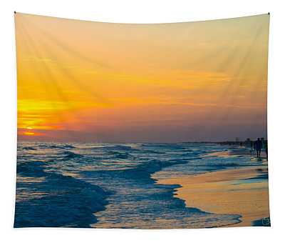 Siesta Key Sunset Walk Tapestry