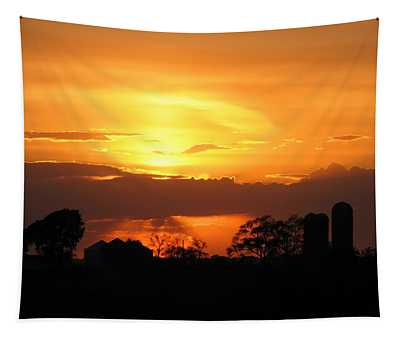 Silo Sunset Tapestry