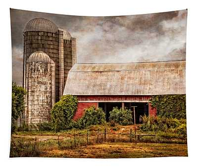 Silos And Barns Tapestry