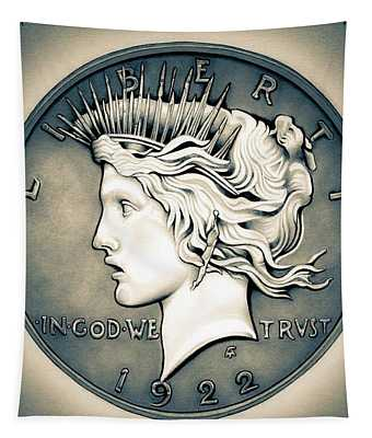 1922 Silver Proof Peace Dollar Tapestry