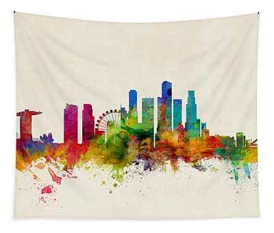 Singapore Skyline Tapestry