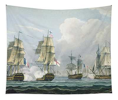 Sir Richard Strachans Action After The Battle Of Trafalgar Tapestry