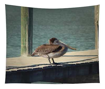 Tapestry featuring the photograph Sitting On The Dock Of The Bay by Kim Hojnacki
