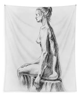Sitting Woman Study Tapestry