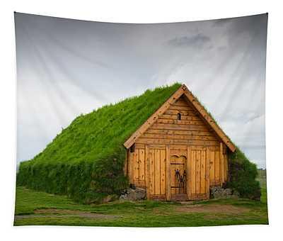 Skalholt Iceland Grass Roof Tapestry