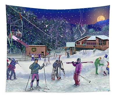 Ski Area Campton Mountain Tapestry