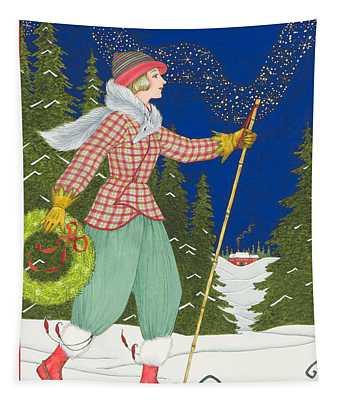 Ski Vogue Tapestry