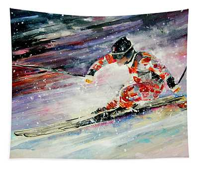 Skiing 01 Tapestry
