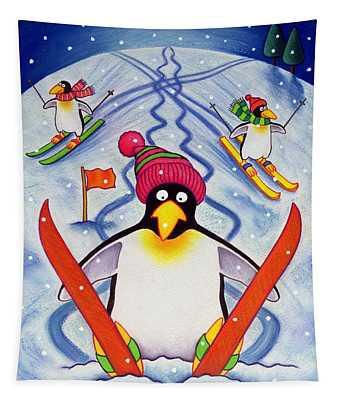 Skiing Holiday Tapestry
