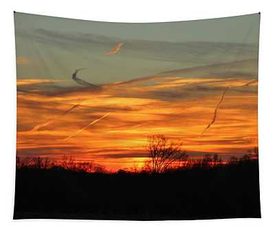 Sky At Sunset Tapestry