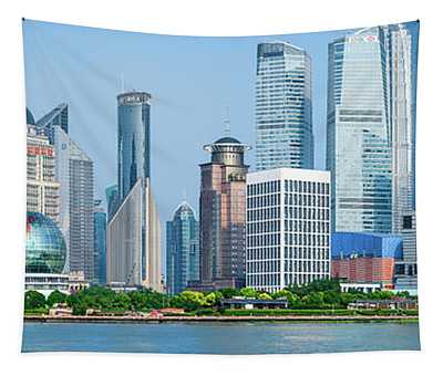 Skylines At The Waterfront, Oriental Tapestry