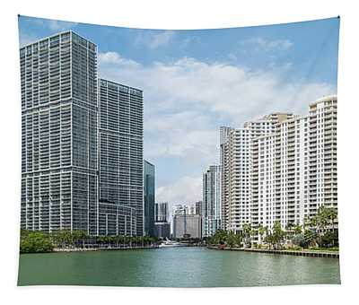 Skyscrapers At The Waterfront, Brickell Tapestry