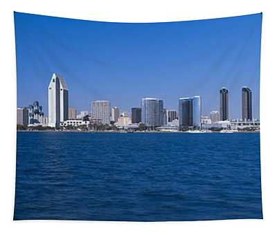 Skyscrapers In A City, San Diego Tapestry