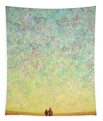 Skywatching In A Painting Tapestry