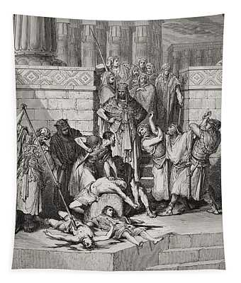 Slaughter Of The Sons Of Zedekiah Before Their Father Tapestry