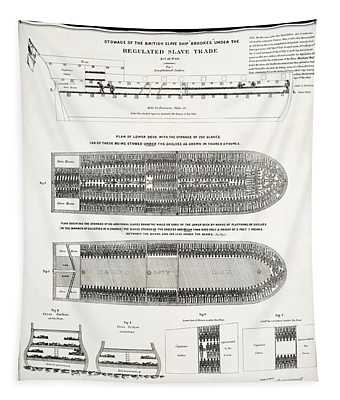 Slave Ship Middle Passage Stowage Diagram  1788 Tapestry