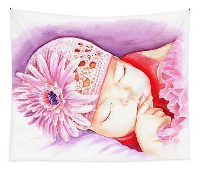 Sleeping Baby Tapestry
