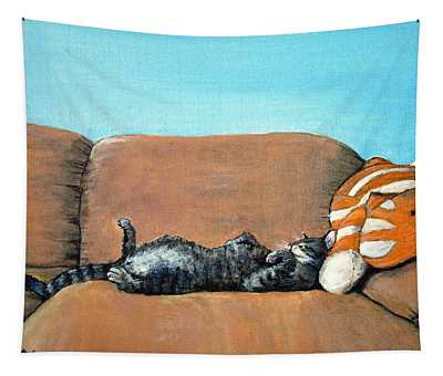 Sleeping Cat Tapestry