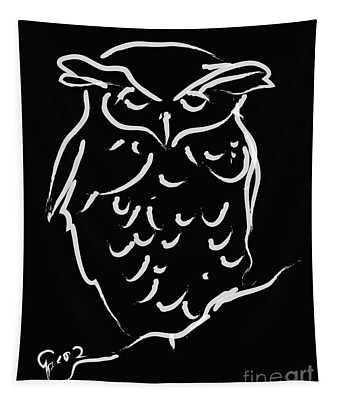 Sleepy Owl Tapestry