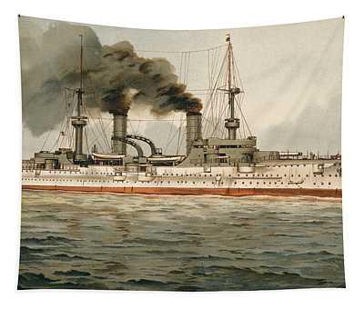 S.m. Grosse Kreuzer Furst Bismarck 1899 Tapestry