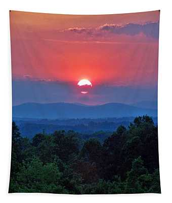 Smokey Mtn Sunset Tapestry