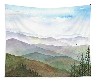 Smoky Mountain Morning Tapestry by Rosie Phillips