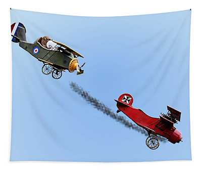 Snoopy And The Red Baron Tapestry