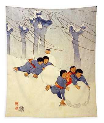 Snow Balls Tapestry
