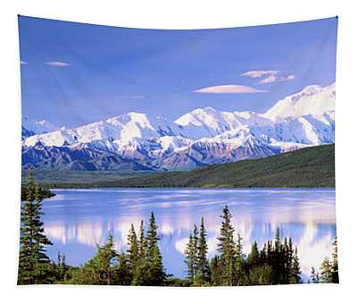 Snow Covered Mountains, Mountain Range Tapestry
