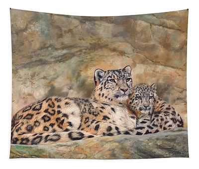 Snow Leopards Tapestry