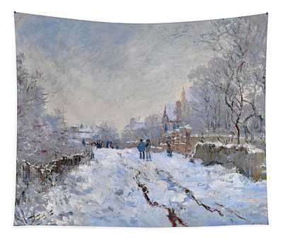 Snow Scene At Argenteuil Tapestry