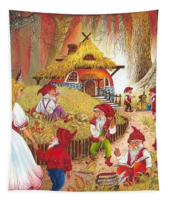 Snow White And The Seven Dwarfs Tapestry