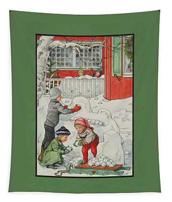 Snow Forts Tapestry
