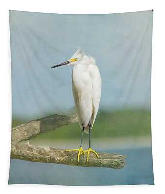 Tapestry featuring the photograph Snowy Egret by Kim Hojnacki