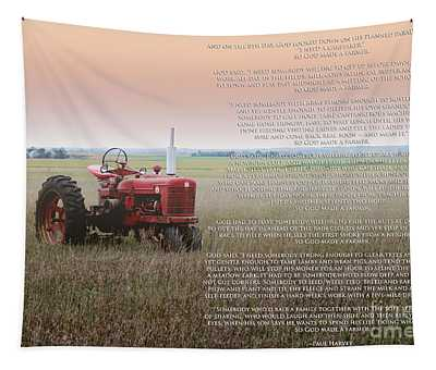 So God Made A Farmer Tapestry