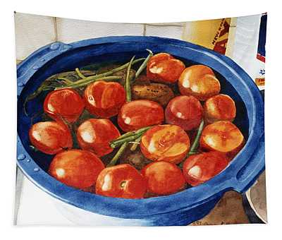Soaking Tomatoes Tapestry