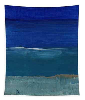 Soft Crashing Waves- Abstract Landscape Tapestry