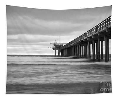 Soft Waves At Scripps Pier Tapestry
