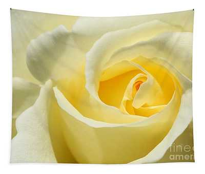 Soft Yellow Rose Tapestry