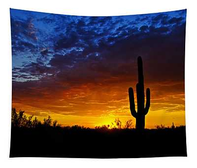 Sonoran Style Sunset  Tapestry